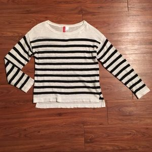 H&M black/white striped sweater